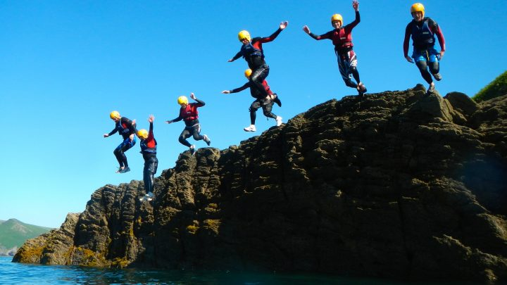Coasteering on Exmoor